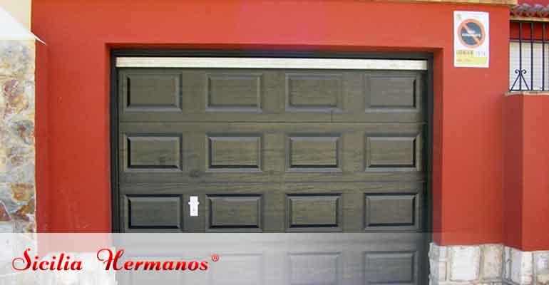 Puerta automática seccionable