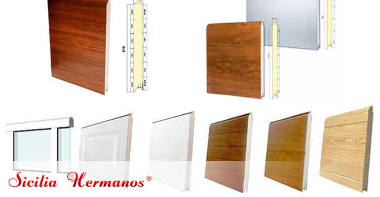 Tipos de paneles de puerta automática seccional